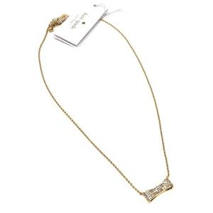 Kate spade pave bow necklace. NWT!💕